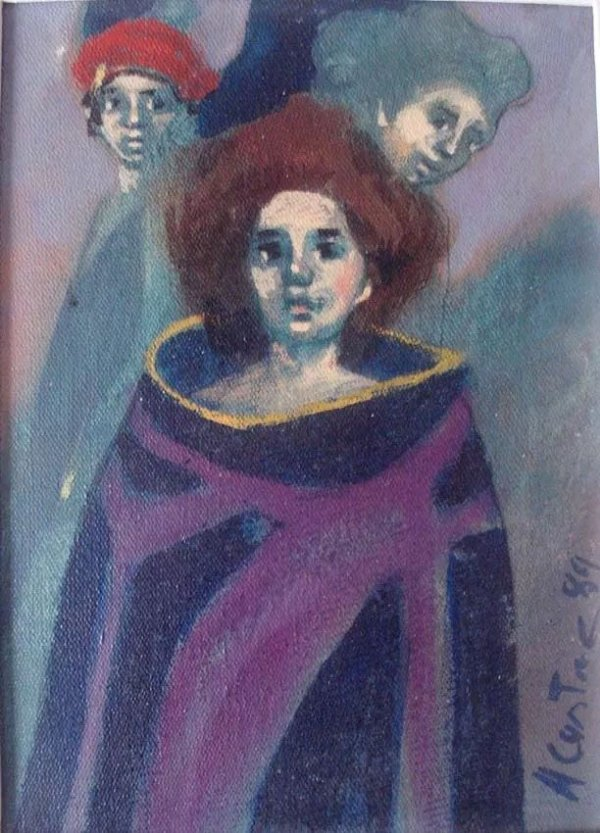 Angel Cestac - Quadro,  Pintura Óleo S/ Tela Assinada, Emoldurada