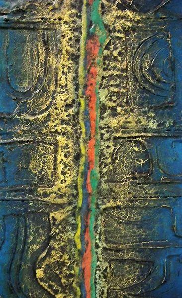 Sachiko, Quadro Abstrato, Técnica Mista, Assinado
