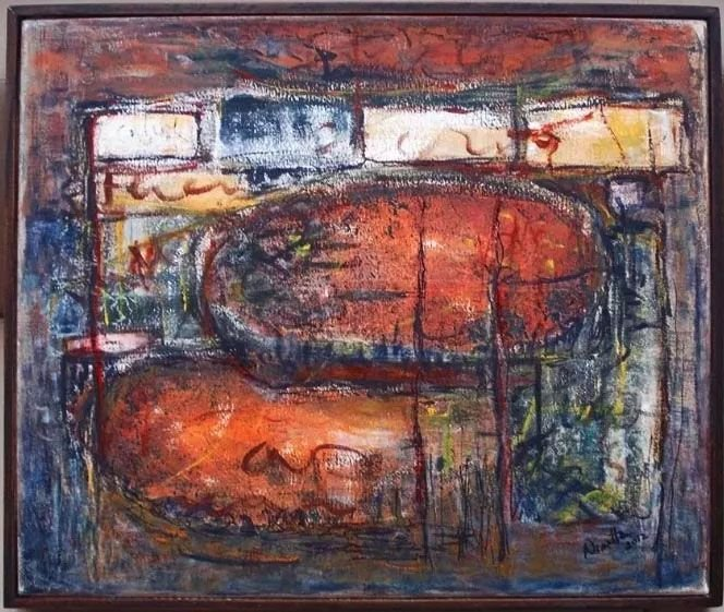 Ninetta Rabner - Quadro, Pintura  Óleo Sobre Tela Assinada, Emoldurada