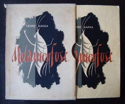 Livro Franz Kafka, Metamorfose, Ilustrado por Walter Lewy, 1956