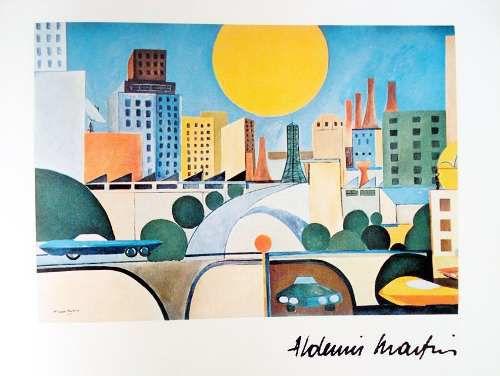 Livro Visão de São Paulo, Coletânia de Obras de 16 Artistas, 1983