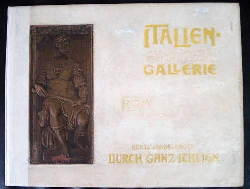 Livro Italien Gallerie com 30 Gravuras - Publicação Alemã