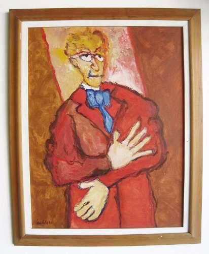 Luciano Lo Ré - Quadro, Pintura Original Ost, de 1982, Com Certificado