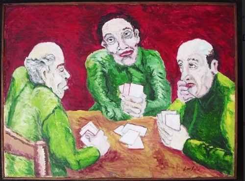 Luciano Lo Ré - Quadro, Pintura Ost, Carteado, com Certificado