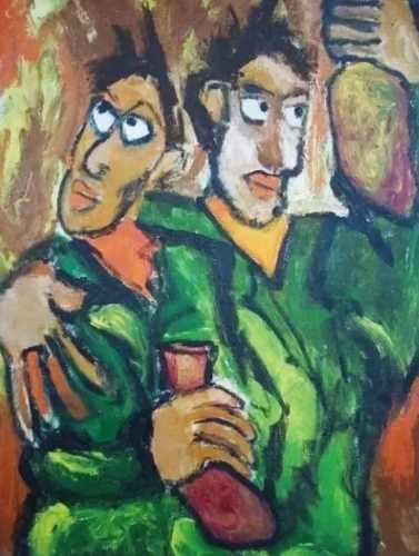 Luciano Lo Ré - Quadro, Pintura Ost, Trago, Com Certificado