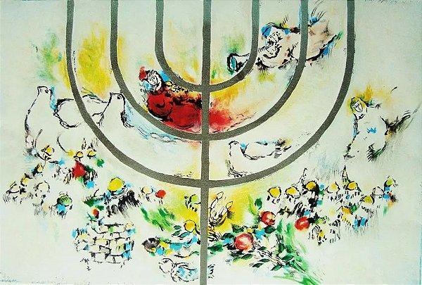 Ben Avram, Gravura Original no Estilo Marc Chagall, Assinada