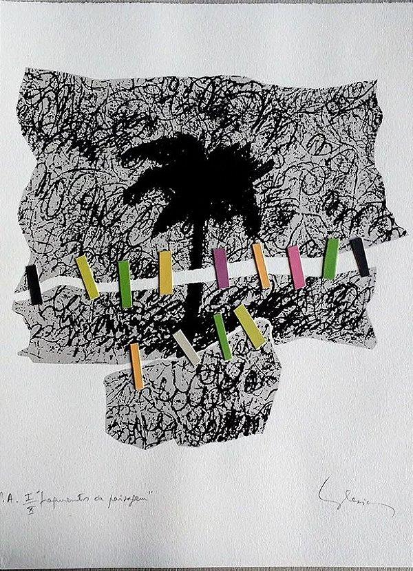 Eduardo Iglesias - Gravura e Colagem Fragmentos De Paisagem