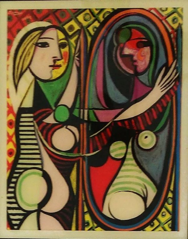 Pablo Picasso - Azulejo Girl Before A Mirror - Guggenheim