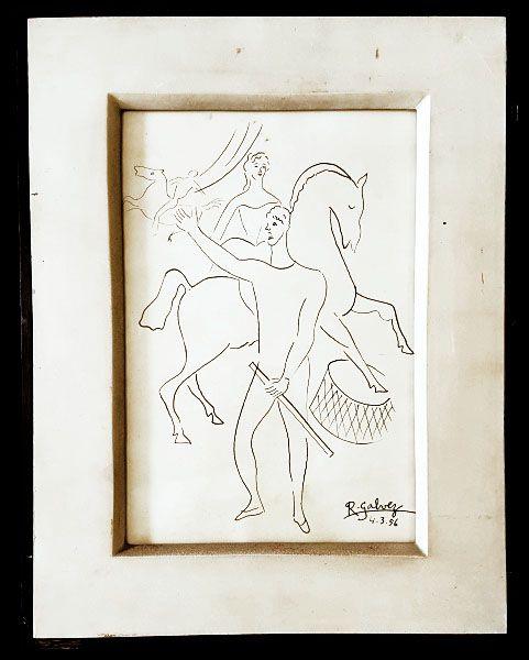 Galvez, Raphael - Desenho a Nanquim, Cena Circense, Circo