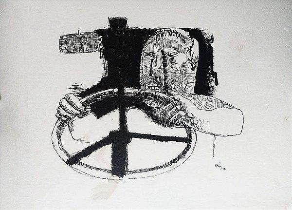 Poty - Álbum com 30 Estampas de Desenhos De Poty,  Autografado 1962
