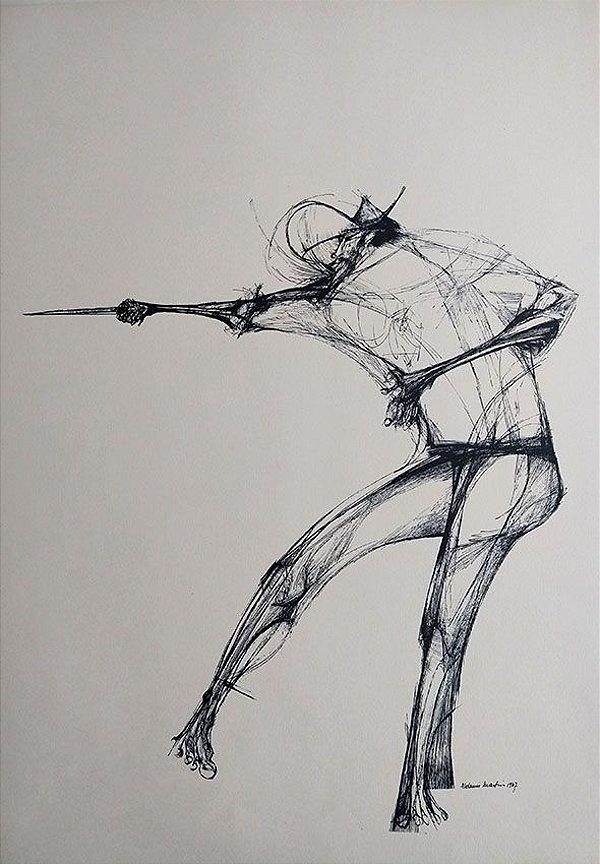 Portfólio com Estampas De 24 Ilustradores -  Aldemir Martins, Italo Cencini e Outros