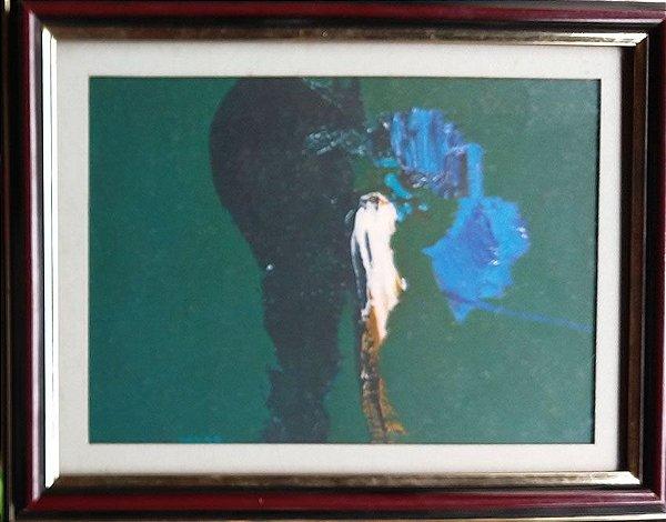 Mabe, Manabu  - Serigrafia Original, Abstrato em Verde