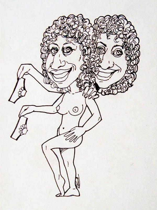 Remi - Desenho Original, Caricatura, Nu Feminino
