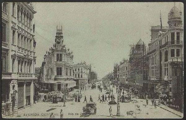 Rio De Janeiro - Foto Malta da Avenida Central - Cartão Postal Antigo Original, Tipográfico