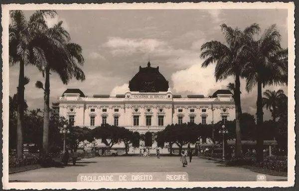 Pernambuco - Recife, Faculdade Direito - Cartão Postal Antigo, Fotografia Original