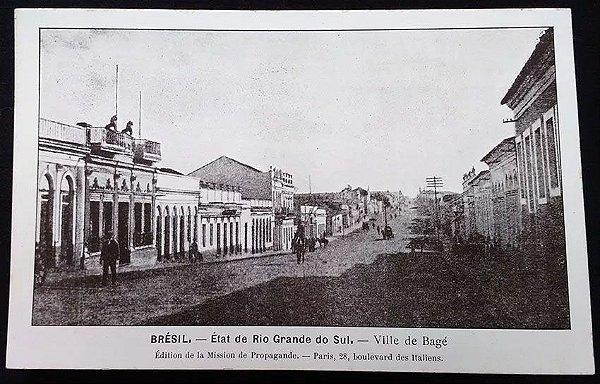 Rio Grande Do Sul, Bagé - Cartão Postal Antigo Original, Tipográfico