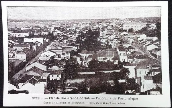 Rio Grande Do Sul, Panorama de Porto Alegre - Cartão Postal Antigo Original, Tipográfico