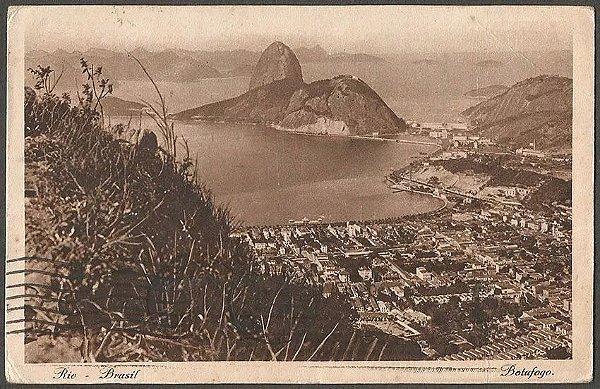 Rio De Janeiro - Botafogo - Cartão Postal Antigo Original, Tipográfico