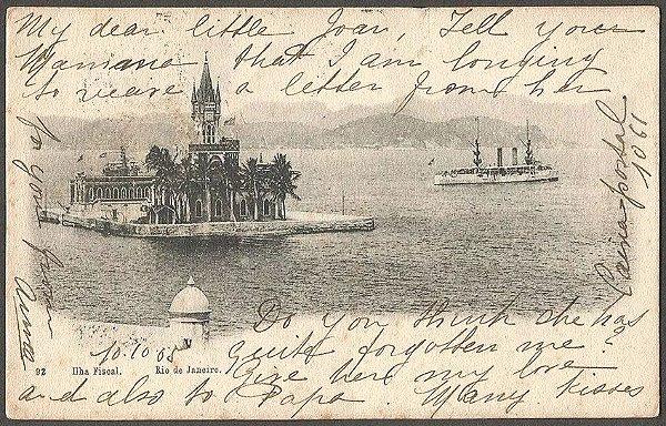 Rio De Janeiro - Ilha Fiscal - Cartão Postal Antigo Original