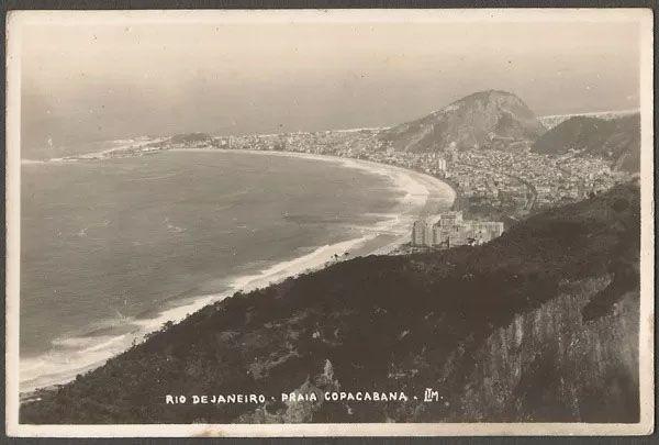 Rio De Janeiro - Praia De Copacabana Cartão Postal Fotográfico, Antigo