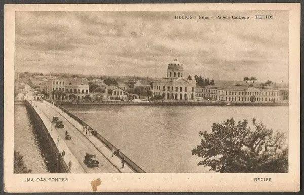 Pernambuco - Recife - Cartão Postal Antigo Tipográfico, Original