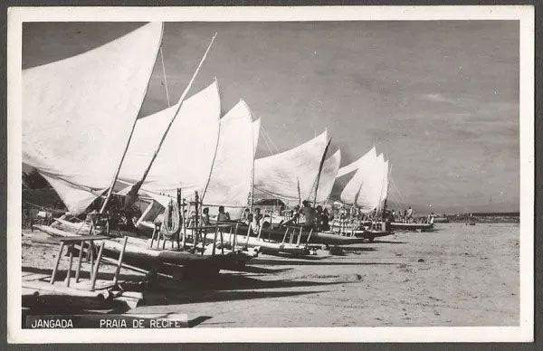 Pernambuco - Praia Do Recife - Cartão Postal Fotográfico Antigo, Original