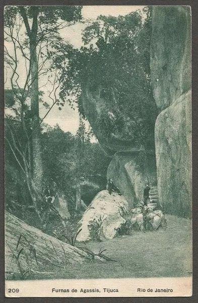 Rio de Janeiro - Furnas De Agassis - Cartão Postal Antigo, Original
