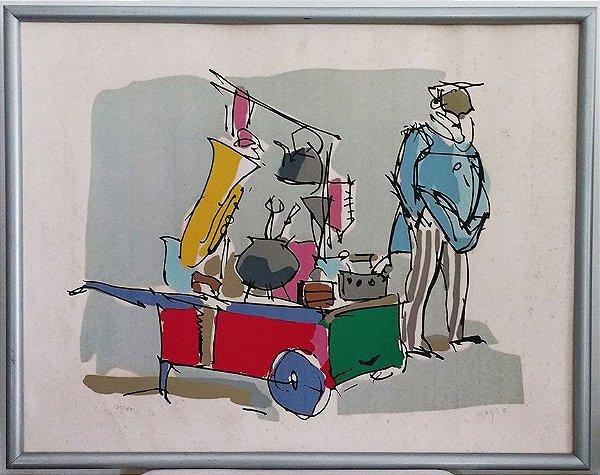 Carybé - Gravura, Serigrafia Original, Assinada De Próprio Punho