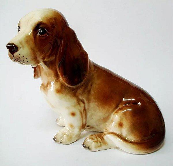 Antiga Escultura em Porcelana, Figura de Cachorro, Numerado, para Coleção