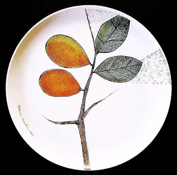 Aldemir Martins - Prato Goyana com Estampa da Série Botânica