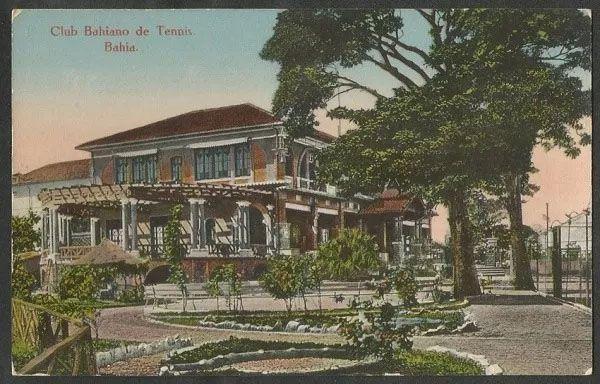 Bahia - Salvador, Pavilhão Social do Club Bahiano De Tenis - Cartão Postal Antigo