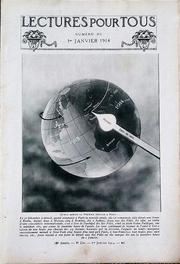 Santos Dumont, Jornal Francês com 11 Páginas de Entrevista com o Aviador,  Original de 1914