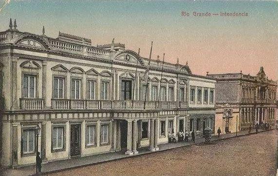 Rio Grande Do Sul - Rio Grande, Intendência - Cartão Postal Antigo Original