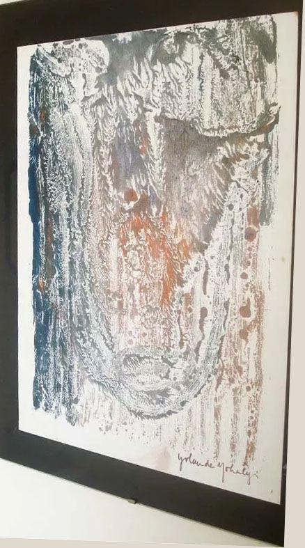 Yolanda Mohalyi - Arte, Quadro, Pintura Original, Monotipia Assinada, Emoldurada