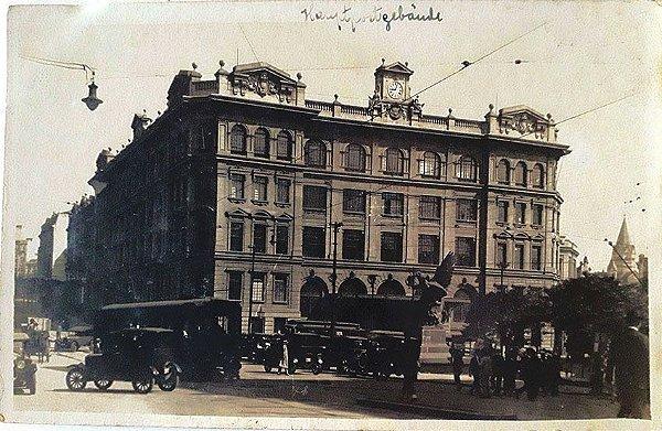 São Paulo - Fotografia Prédio do Correio Geral, Bonde, Carros - Postal Antigo Original