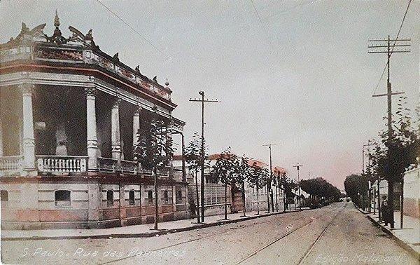 São Paulo, Cartão Postal Antigo Original, Rua Das Palmeiras