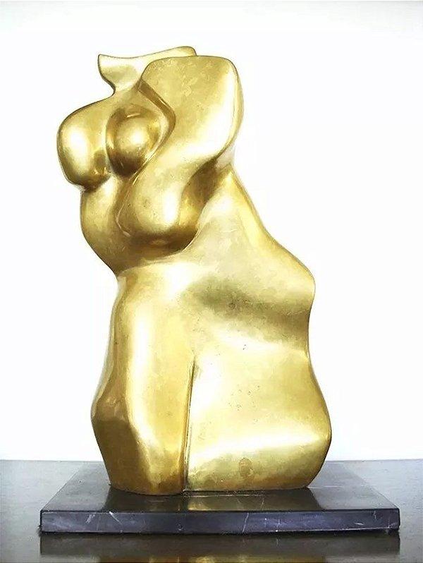 Leida Grineberg - Importante Escultura em Bronze, Assinada, Datada de 1991, 41cm