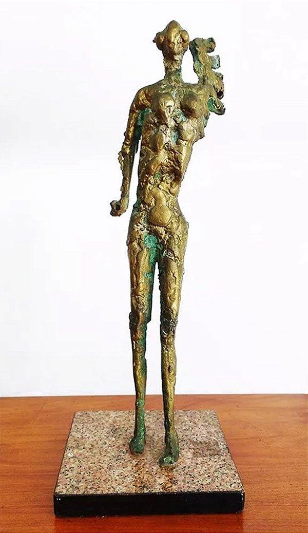 Tonny - Escultura em Bronze, Titulada Guerreira, Obra Assinada