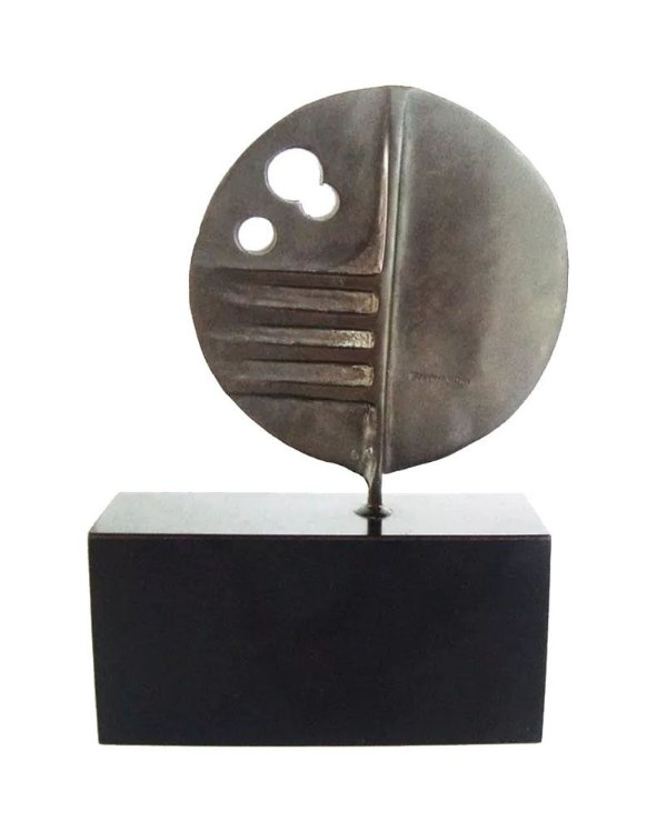 Elvio Becheroni - Escultura em Bronze, Assinada