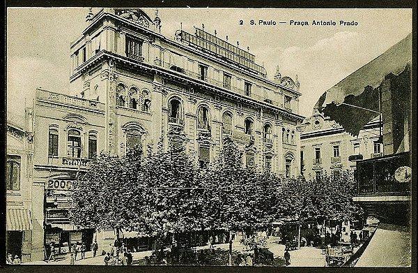 São Paulo - Cartão Postal Antigo Original, Praça Antonio Prado