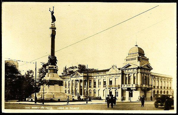 São Paulo - Cartão Postal Antigo Original - Largo Do Palácio