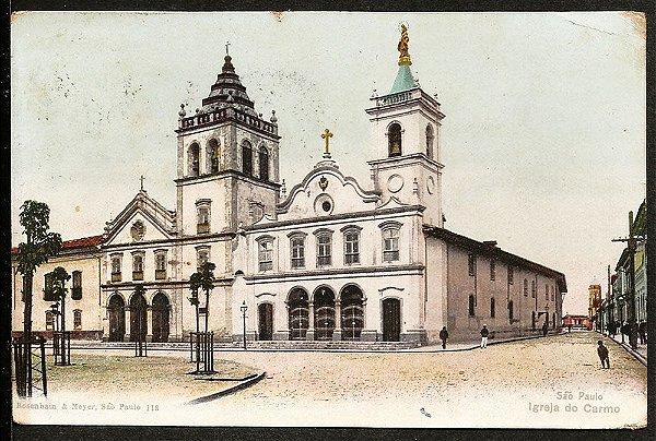 São Paulo - Cartão Postal Antigo Original, Igreja Do Carmo e Entorno