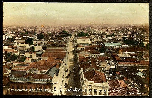 São Paulo - Cartão Postal Antigo Original - Panorama Central