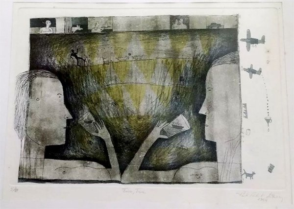Paulo Roberto Lisboa - Quadro Arte Gravura Titulada Tim Tim, Assinada e Numerada