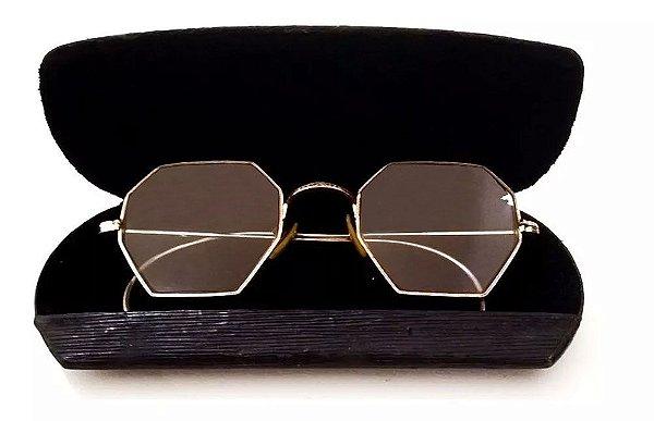 Par de Óculos Antigos Oitavados em Ouro 1/10 12k - Shuron, no Estojo Original