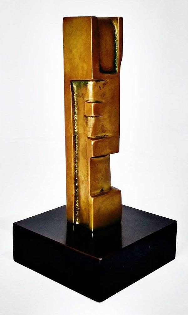 Roberval Souza - Escultura, Totem em Bronze, Assinada
