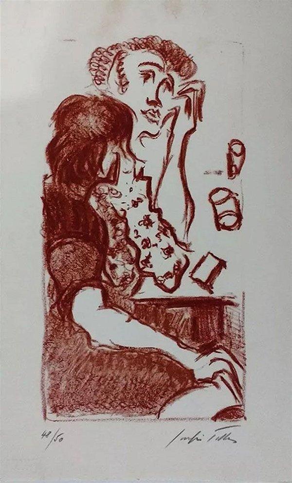 Sergio Telles - Arte em Gravura, Assinada e Numerada, Pensativa