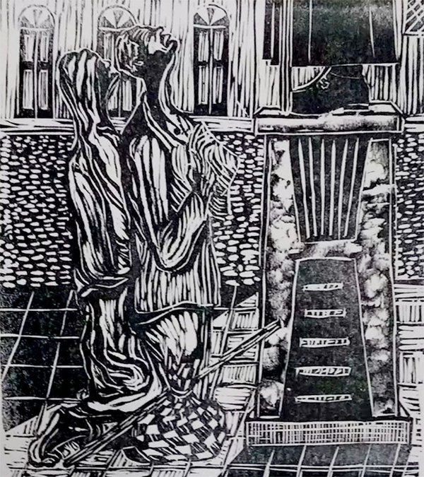 Zenon Barreto - Arte em Gravura, Xilogravura  Romeiros de Juazeiro do Norte