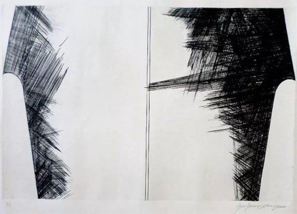 Khoury Feres - Arte em Gravura em Metal, Assinada e Numerada, Representação de Formas