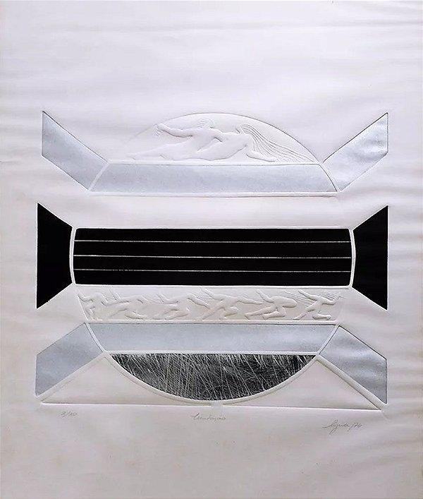 Lyria Palombini - Imitação, Arte em Gravura em Alto Relevo Assinada